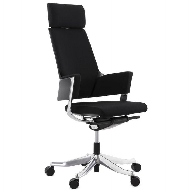 Le revêtement du Fauteuil de bureau design ergonomique BARBADES  en tissu (noir) assure une bonne ventilation afin que vous puissiez travailler dans les meilleures conditions tout au long de l'année.