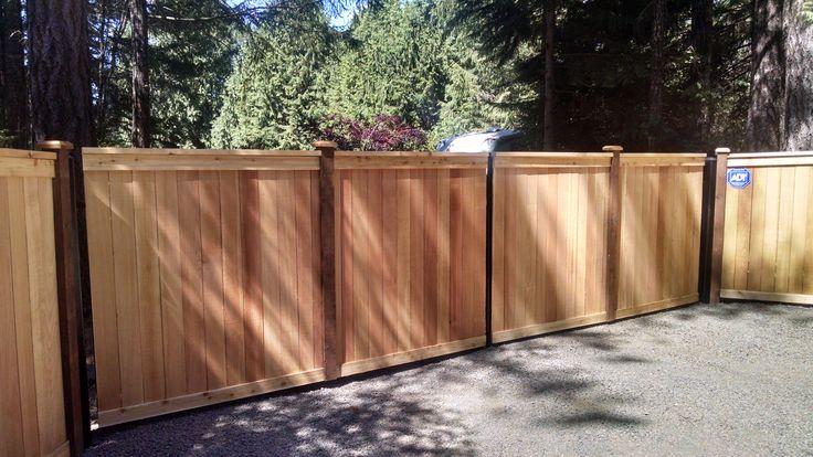 Estate Style Double Drive Cedar Gates Cedar Gate Fence