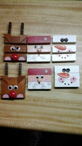 Children's puzzles from jenga blocks!