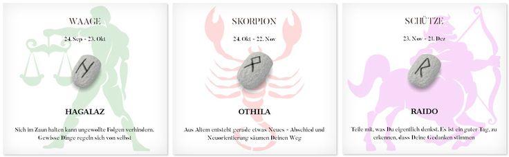 Runen Tageshoroskop 24.4.2017 #Sternzeichen #Runen #Horoskope #waage #skorpion #schütze