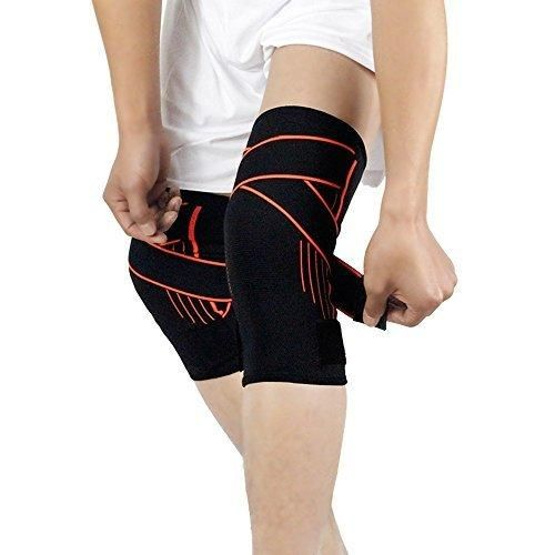 Knee Brace Support For Arthritis Tendonitis ACL MCL Meniscus Tear Post Surgery Best Sleeve Side Stabilizers & Padding Protector Joint Pain Relief Injury Recovery-Single