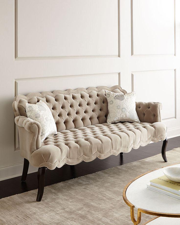 rebecca tufted sofa - Grey Tufted Sofa