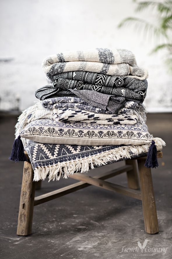 Modern Nordic living summer style throws, with an essence of wanderlust.