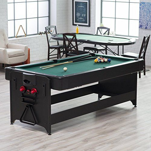 Fat Cat 7 Ft. Black Pockey Table   Billiard U0026 Air Hockey