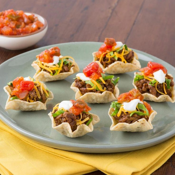 Taco Night In One Bite Appetizer Recipes Appetizers For Party Recipes