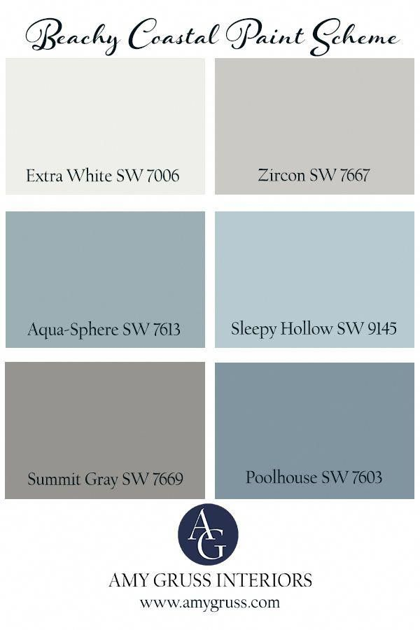 Sherwin Williams Paint Colors For Your Beachy And Coastal Home Bedroompaintcolors In 2020 Sherwin Williams Paint Colors House Color Palettes Paint Colors For Home