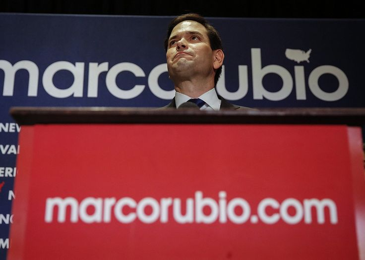 Marco Rubio suspended his campaign Tuesday night after a humiliating loss in his home state of Florida. Rubio's concession speech—notable because Rubio ...