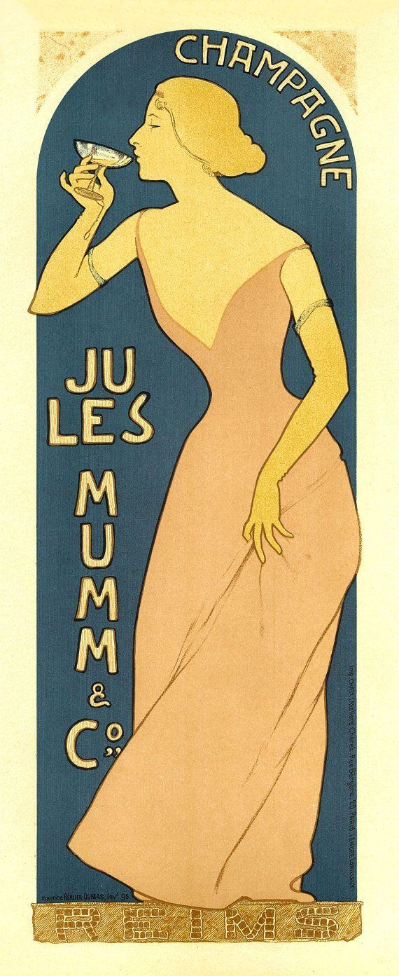 Affiche vintage Champagne Mumm