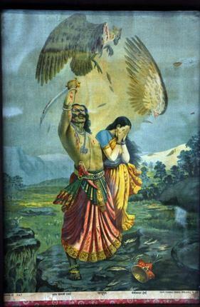 Paintings on display at the Ramayana exhibition. Photo: Darshit Sagar