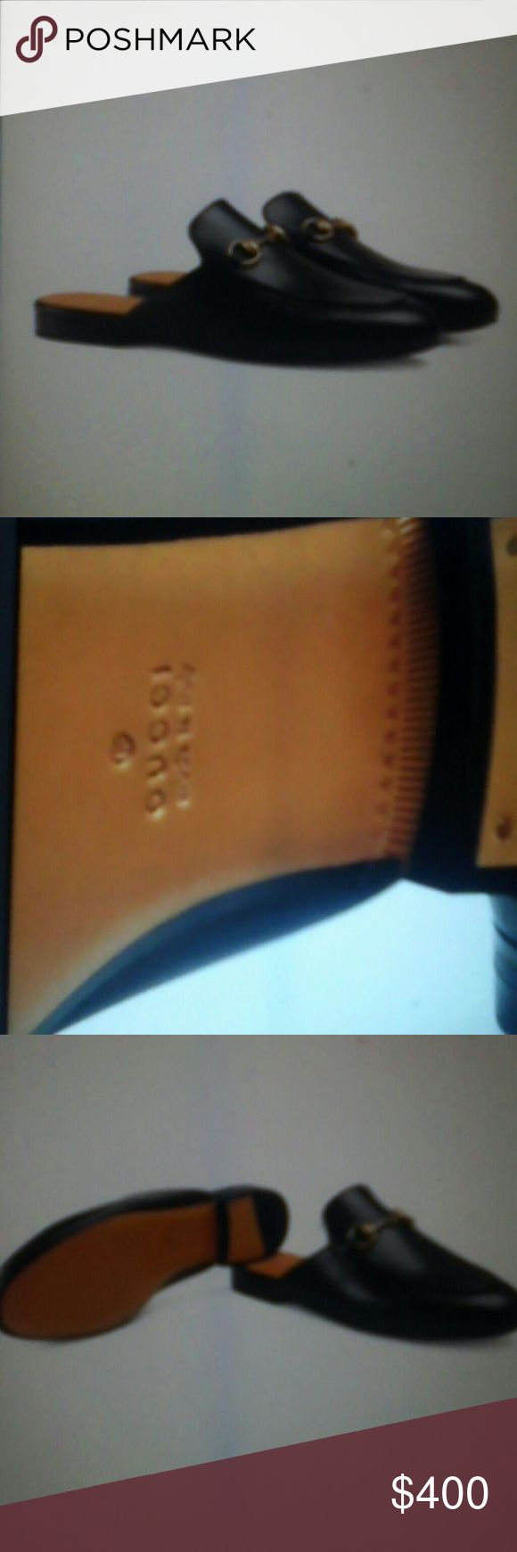 New authentic gucci mules black leather size USA 8 Brand new Gucci mules Gucci Shoes Mules & Clogs