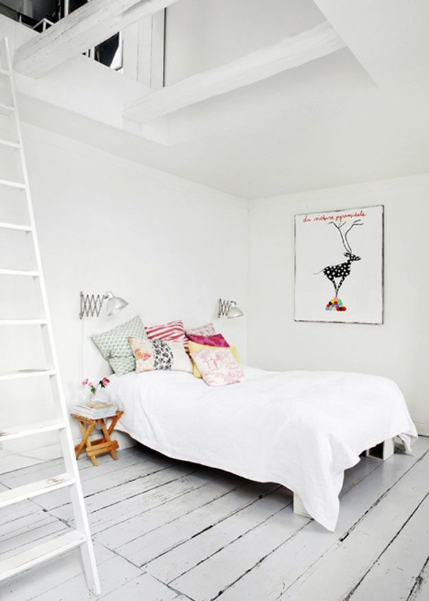 White Bedroom With Pop Of Color 13 best decoração escandinava images on pinterest | architecture