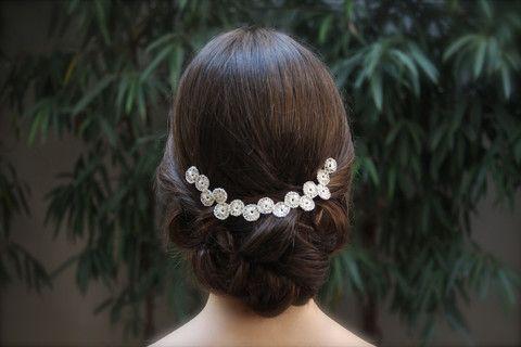 La Cala hilos de plata - Tocados de novia originales