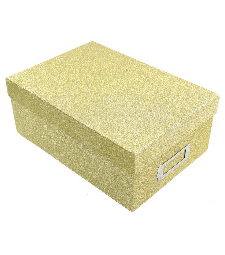 Gold Glitter Photo Storage Box