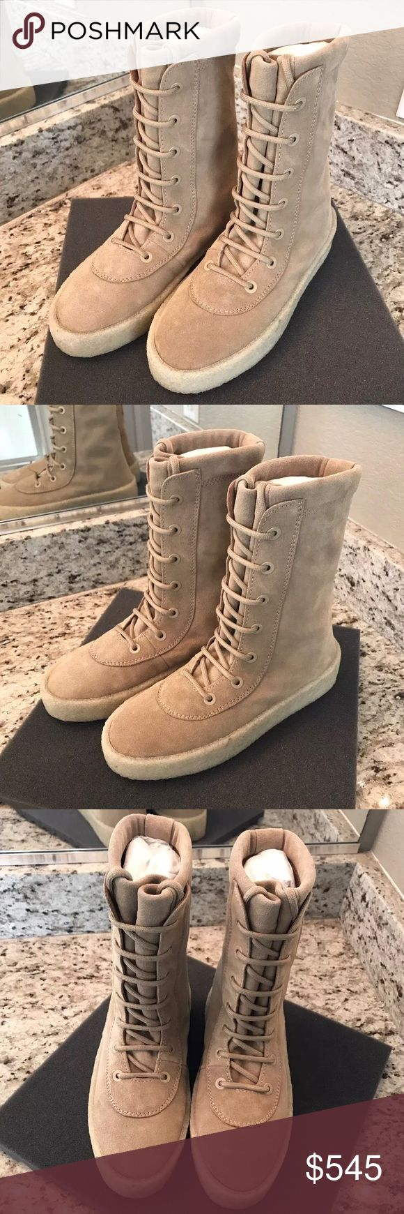 Yeezy season 2 crepe boots Brand new yeezy season 2 crepe taupe boots. They are 100% authentic. This size is a 41, size 8 US in men. yeezy season  Shoes Boots