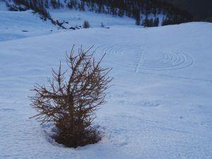 Il Labirinto di Natale, Gian Mario e Erico Navillod, Chamois, Valle d'Aosta, 2016.
