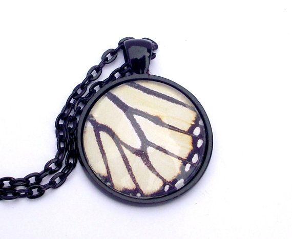 Zebra stripes butterfly pendant. Butterfly wing by EvasJewellery, $11.99