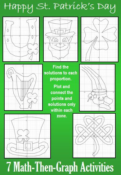 St Patricks Day Solving Proportions 7 Math Then Graph