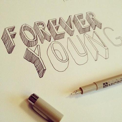 doodle, forever, forever young, glmr klls, pen - inspiring picture on Favim.com   We Heart It