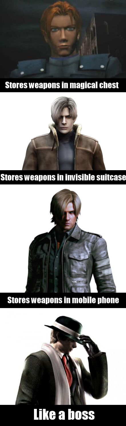 Leon is a certified boss #resident #evil #chronicles