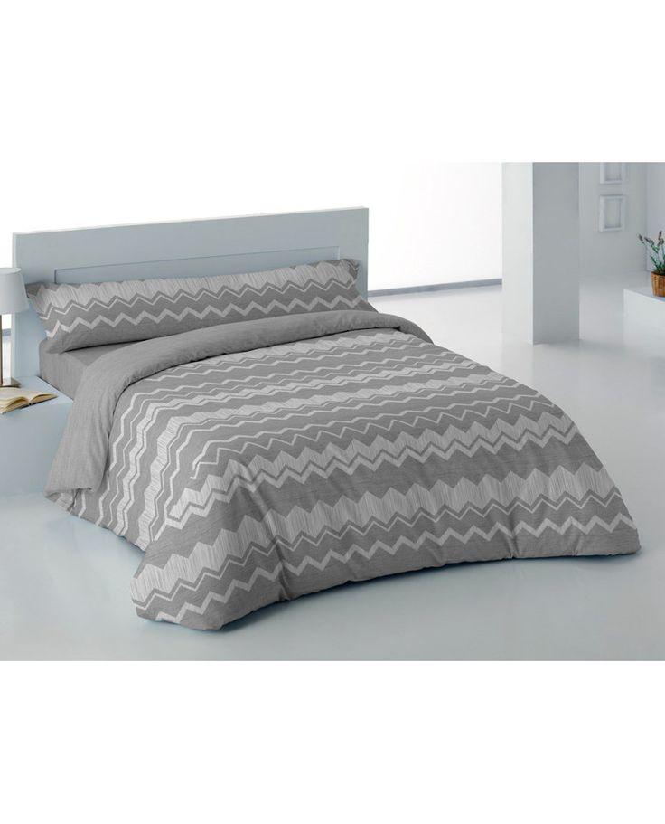 Juego de funda nórdica con sábana ajustable y almohadón con estampado en zig zag en tonos grises a un precio increíble. Descubre todos los modelos en Revitex