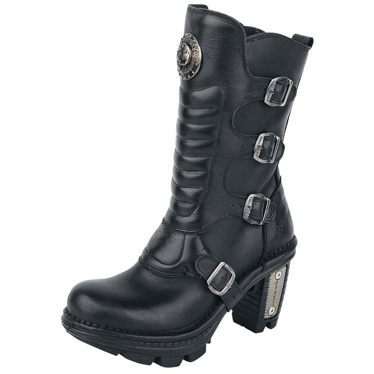 New Rock Black Trail Boots - Laarzen van Gothicana by EMP