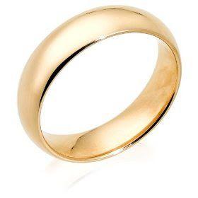Yellow Gold Men's Wedding Bands Rings