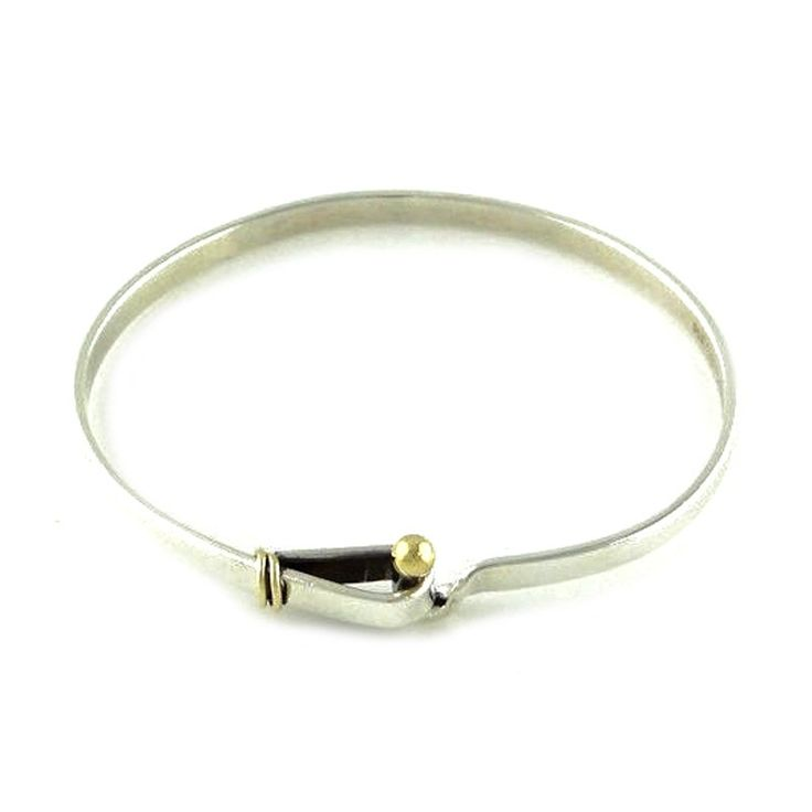 Tiffany and Co. Tiffany and Co. Sterling Silver and 18K Yellow Gold Buckle Bangle Bracelet | TrueFacet