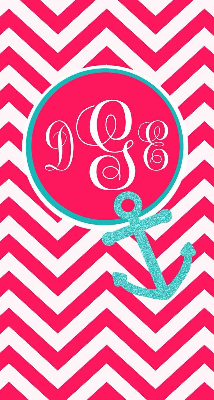 chevron initials wallpaper with o - photo #26