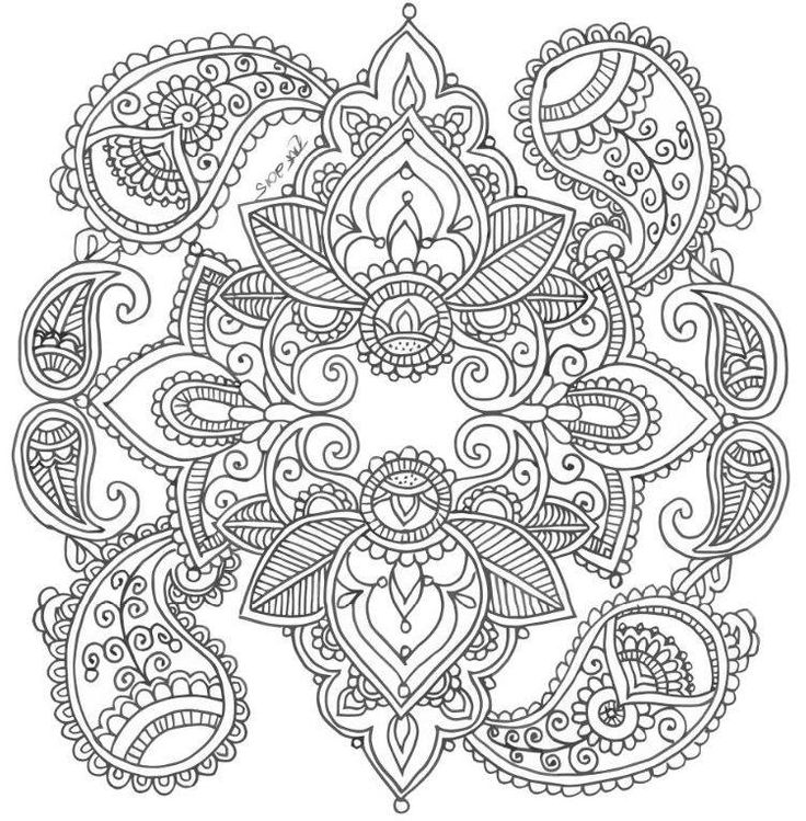Coloring Pages Of Random Designs. Abstract Doodle Zentangle Coloring pages colouring adult detailed advanced  printable Kleuren voor volwassenen coloriage pour adulte 39 best Mehndi images on Pinterest Print coloring