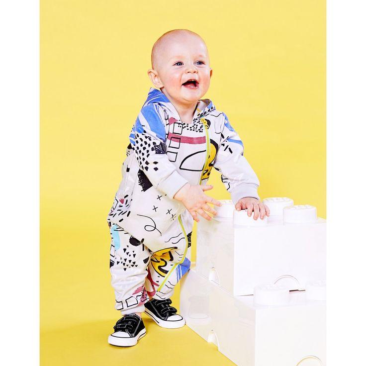Organic Sketchbook baby jumpsuit