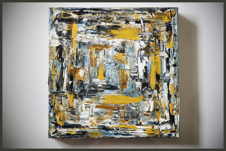 Quadrato astratto - olio su tela