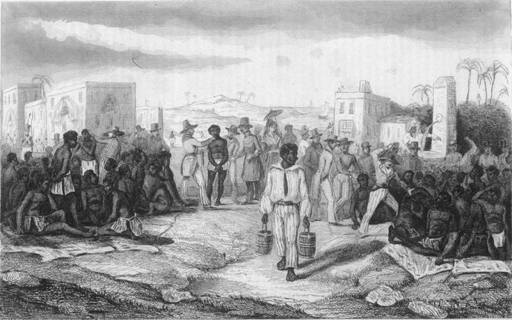 Slave Market, French West Indies (?) early 19th cent.