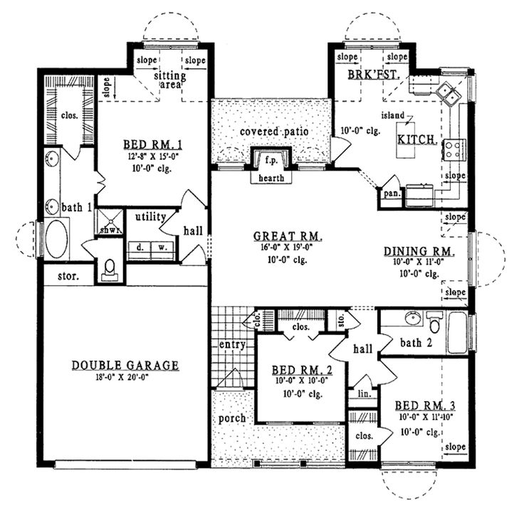 1056 best Floor Plans images on Pinterest | Country homes, House ...