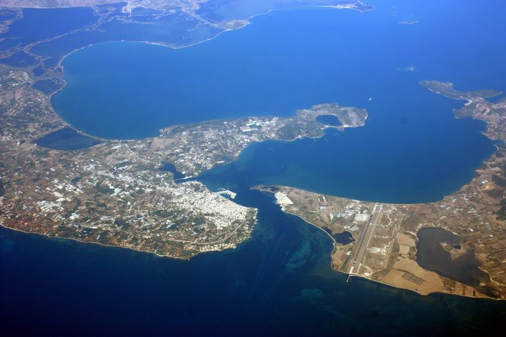 Preveza & Aktion airport from above