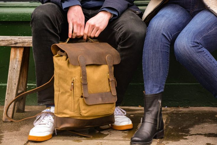 Ruggedly stylish, this bag will guarantee to make you stand out on your travels. The strong combination of vintage, worn-in style with modern function and practicality is what makes this canvas rucksack a great value for your hard earned money.#canvas #backpack #leatherbag #styleinspo #musthave