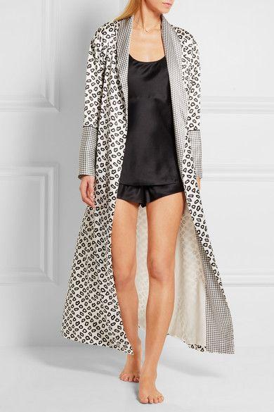 Olivia von Halle   Capability Amaya printed silk-satin robe   NET-A-PORTER.COM, $945, hand wash