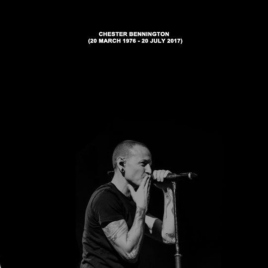"""""""""""When my time comes, forget the wrong that I've done, Help me leave behind some reasons to be missed. RIP Chester Bennington (20th March 1976 - 20th July 2017)"""" """""""