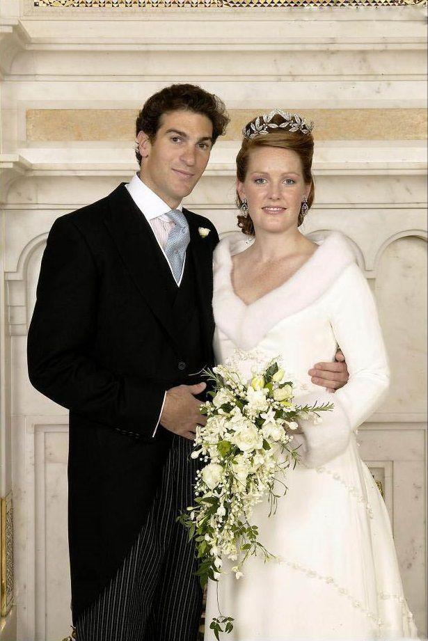 Marriage of Edward van Cutsem, son of the great friend of prince Charles Hugh van Cutsem, and Lady Tamara Grosvenor in 2004.
