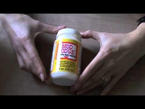 Cos'è la Mod podge e come usarla - Tutorial - Lartevistadame - YouTube