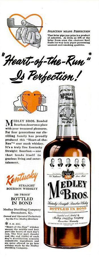Medley Bros. Bourbon Advertisement Circa 1951