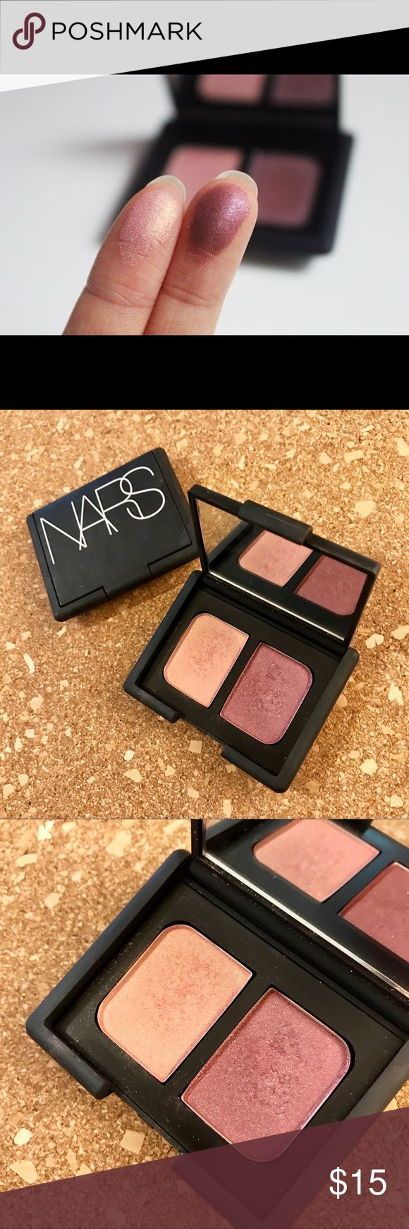 NARS Eyeshadow Duo in Kuala Lumpur Neutral, slightly pink Eyeshadow Duo by NARS. I have maybe used it once but probably just looked and tried the colors on my hand. Otherwise perfect condition. It's a fabulous Palette but I just don't wear Eyeshadow enough! Neiman Marcus Makeup Eyeshadow