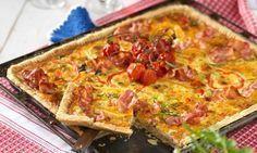 Recept paj i långpanna med bacon