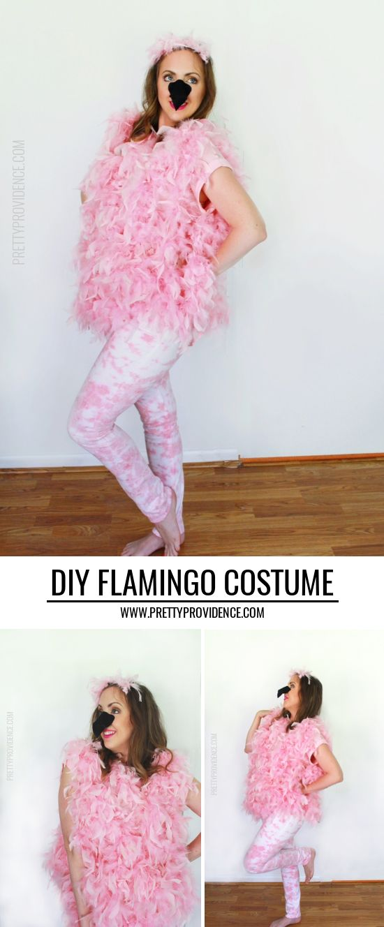 Easy DIY Flamingo costume - fun, fast halloween costume! #sp #MichaelsMakers
