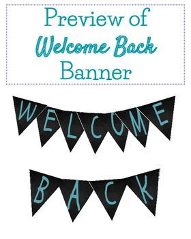 This listing is for one digital file (PDF) of the words WELCOME BACK in BLUE. Each letter is on its own page, with outlines for cutting to make your very own pennant for your classroom. The size is 8x10 per page, to allow for flawless 8.5 x 11 printing and trim room.
