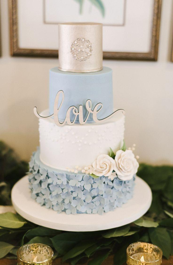 Pin By Poppleberry Stationery Weddi On Amazing Cakes Silver Wedding Cake Light Blue Wedding Cake Wedding Cakes Blue