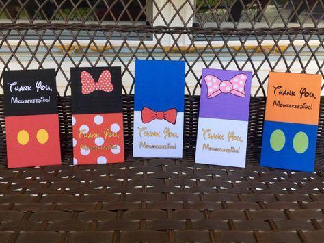 Disney Fab Five Mousekeeping Envelopes by DisneysLostTreasures