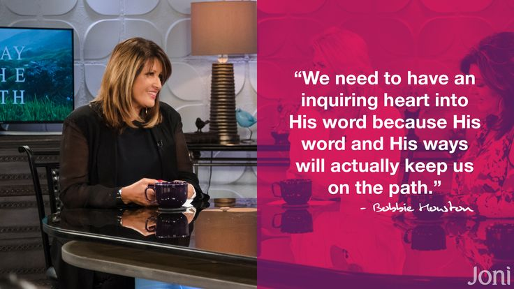 """We need to have an inquiring heart into His word because His word and His ways will actually keep us on the path."" -Bobbie Houston [Click Image to Watch Full Episode at Daystar.com]"
