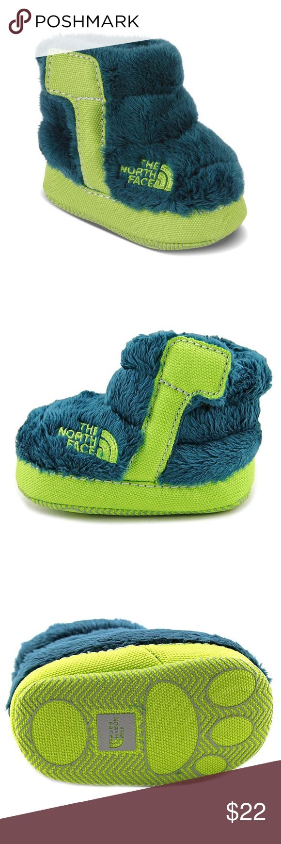New The North Face NSE Infant Fleece Bootie The North Face NSE Infant Fleece Booties in Blue/Teal •New in box •Retails for $30  Check out my other listings- Nike, adidas, Michael Kors, Hunter Boots, Kate Spade, Miss Me, Rock Revival, Coach, Wildfox, Victoria's Secret, PINK, True Religion, Ugg Australia, Free People and more! The North Face Shoes Baby & Walker