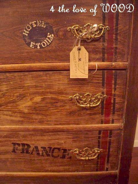 4 el amor por la madera: OLD WORLD TRAVEL - viaje del vintage de pecho temática