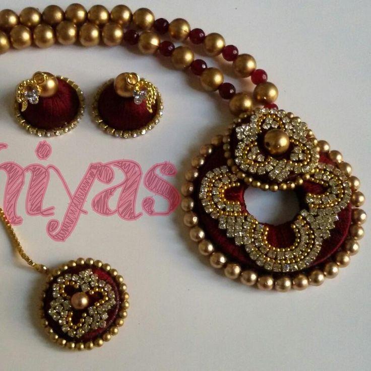 Pin By Rini Rini On Top Silk Thread Necklace Silk